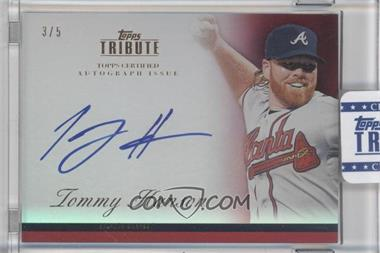 2012 Topps Tribute Autograph Red [Autographed] #TA-TH2 - Tommy Hanson /5