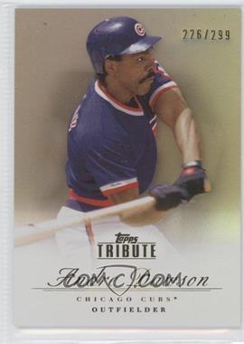 2012 Topps Tribute Bronze #15 - Andre Dawson /299