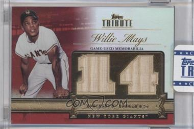 2012 Topps Tribute Debut Digits Relic Red Encased #DD-WM - Willie Mays /10