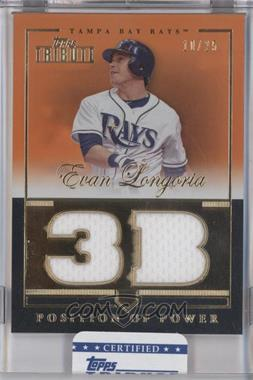 2012 Topps Tribute Position of Power Relics Orange Encased #PPO-EL - Evan Longoria /25