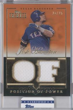 2012 Topps Tribute Position of Power Relics Orange Encased #PPO-JH - Josh Hamilton /25