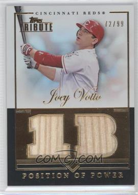 2012 Topps Tribute Position of Power Relics #PPO-JV - Joey Votto /99