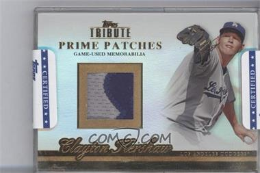 2012 Topps Tribute Prime Patches Encased #PP-CK - Clayton Kershaw /24