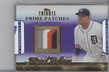 2012 Topps Tribute Prime Patches Purple Encased #PP-MC - Miguel Cabrera /1