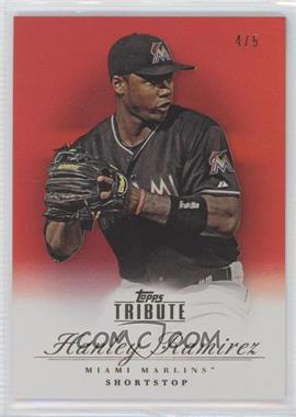 2012 Topps Tribute Red #64 - Hanley Ramirez /5