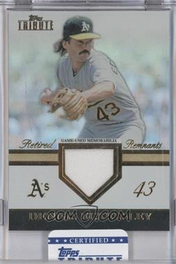 2012 Topps Tribute Retired Remnants #RR-DE - Dennis Eckersley /99