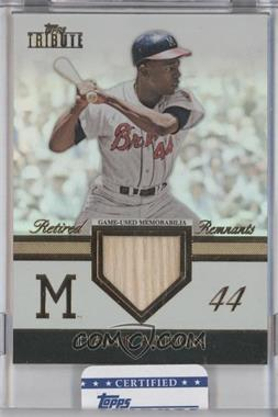 2012 Topps Tribute Retired Remnants #RR-HA - Hank Aaron /99