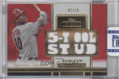 2012 Topps Tribute Superstar Swatches Relics Red #SS-JU - Justin Upton /10