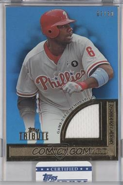 2012 Topps Tribute Tribute to the Stars Relic Blue #TSR-RHO - Ryan Howard /50