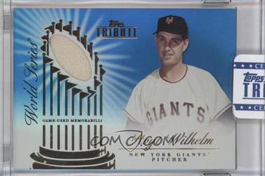 2012 Topps Tribute World Series Swatches Blue Encased #WSS-HW - Hoyt Wilhelm /50
