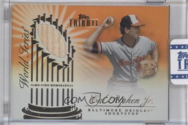 2012 Topps Tribute World Series Swatches Orange Encased #WSS-CR - Cal Ripken Jr. /25