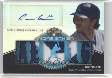 2012 Topps Triple Threads - Autographed Relics - Sapphire #TTAR-50 - Andre Ethier /3