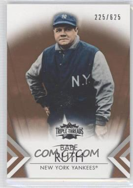 2012 Topps Triple Threads - [Base] - Sepia #11 - Babe Ruth /625