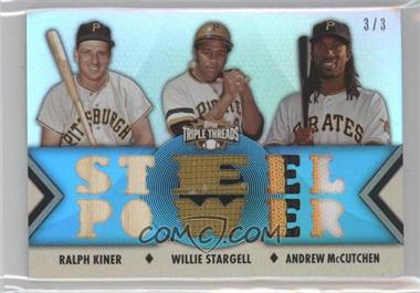 2012 Topps Triple Threads - Relic Combos - Sapphire #TTRC-40 - Ralph Kiner, Willie Stargell, Andrew McCutchen /3