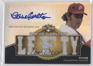 2012 Topps Triple Threads Autographed Relics Gold #TTAR-131 - Steve Carlton /9