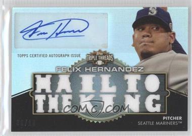 2012 Topps Triple Threads Autographed Relics #TTAR-246 - Felix Hernandez /18