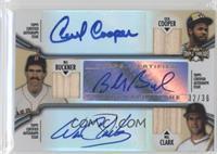 Cecil Cooper, Bill Buckner, Will Clark /36