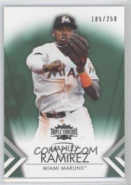 2012 Topps Triple Threads Emerald #35 - Hanley Ramirez /250