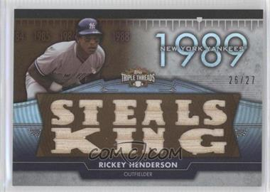 2012 Topps Triple Threads Flashback Relics Sepia #TTFR-12 - Rickey Henderson /27