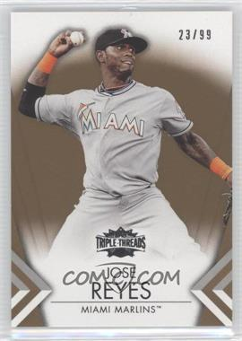 2012 Topps Triple Threads Gold #36 - Jose Reyes /99