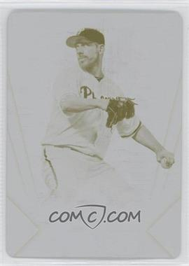 2012 Topps Triple Threads Printing Plate Yellow #97 - Cliff Lee /1