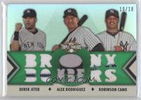 Derek Jeter, Alex Rodriguez, Robinson Cano /18