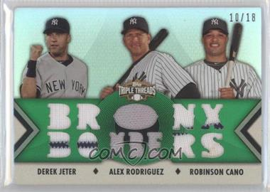 2012 Topps Triple Threads Relic Combos Emerald #TTRC-19 - Derek Jeter, Alex Rodriguez, Robinson Cano /18