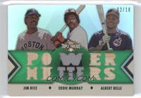 Jim Rice, Eddie Murray, Albert Belle /18