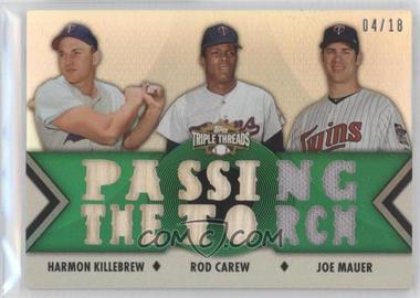 2012 Topps Triple Threads Relic Combos Emerald #TTRC-30 - Harmon Killebrew, Rod Carew, Joe Mauer /18