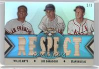 Willie Mays, Jonathan Diaz, Stan Musial /3