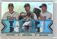 David Price, James Shields, Matt Moore /3