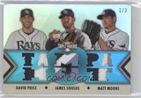 David Price, James Shields, Matt Moore /3