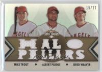 Mike Trout, Albert Pujols, Jered Weaver /27