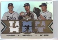 David Price, James Shields, Matt Moore /27