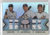 Derek Jeter, Alex Rodriguez, Robinson Cano /36