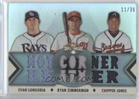Evan Longoria, Ryan Zimmerman, Chipper Jones /36