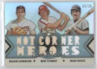 Brooks Robinson, Mike Schmidt, Wade Boggs /36