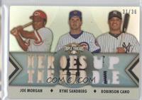 Joe Morgan, Ryne Sandberg, Robinson Cano /36