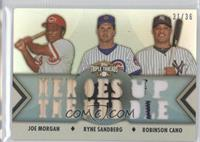 Jose Molina, Ryne Sandberg, Joe Morgan /36