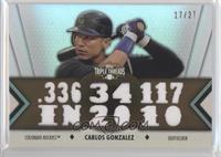 Carlos Gonzalez /27