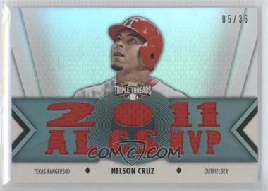 2012 Topps Triple Threads Relics #TTR-48 - Nelson Cruz /36