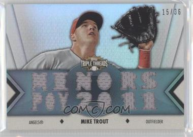 2012 Topps Triple Threads Relics #TTR-70 - Mike Trout /36