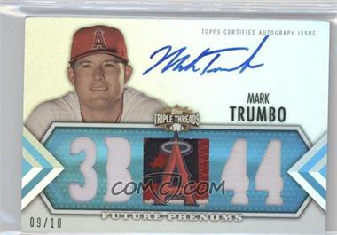 2012 Topps Triple Threads Sapphire #145 - Mark Trumbo /10
