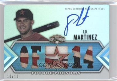 2012 Topps Triple Threads Sapphire #160 - J.D. Martinez /10