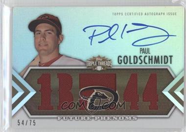 2012 Topps Triple Threads Sepia #153 - Paul Goldschmidt /75