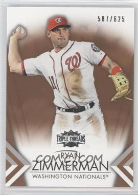 2012 Topps Triple Threads Sepia #33 - Ryan Zimmerman /625