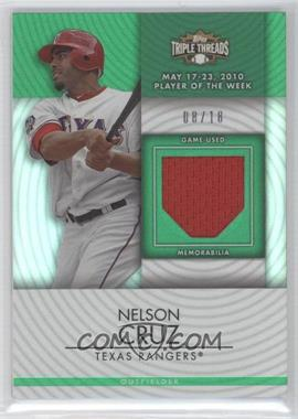 2012 Topps Triple Threads Unity Relics Emerald #TTUR-93 - Nelson Cruz /18