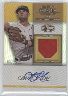 2012 Topps Triple Threads Unity Relics Gold Autographs [Autographed] #TTUAR-41 - Dustin Pedroia /25