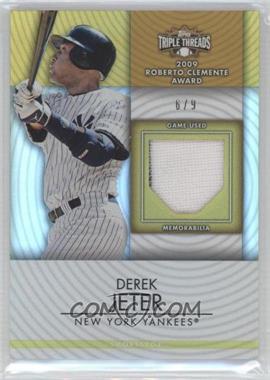 2012 Topps Triple Threads Unity Relics Gold #TTUR-49 - Derek Jeter /9