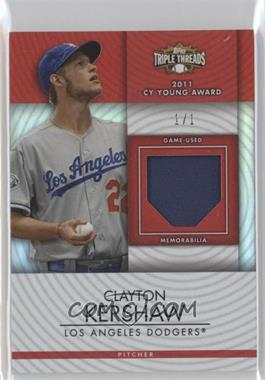 2012 Topps Triple Threads Unity Relics Ruby #96 - Clayton Kershaw /1